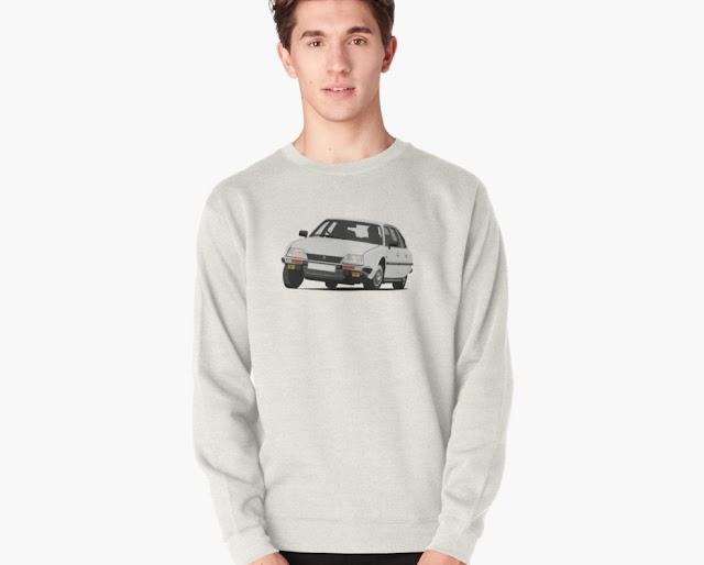 White classic Citroën CX 2400 GTi t-shirt