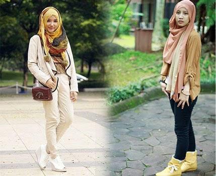 model jilbab Celana Panjang Wanita Terbaru