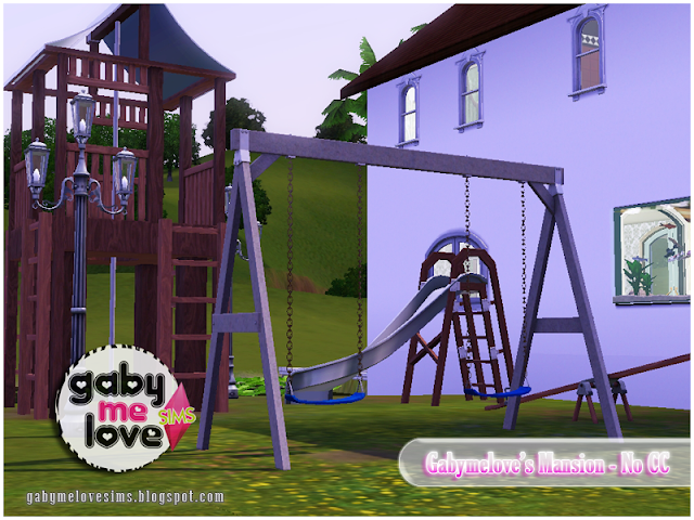 Gabymelove's Mansion |NO CC| ~ Lote Residencial, Sims 3. Parque Infantil.
