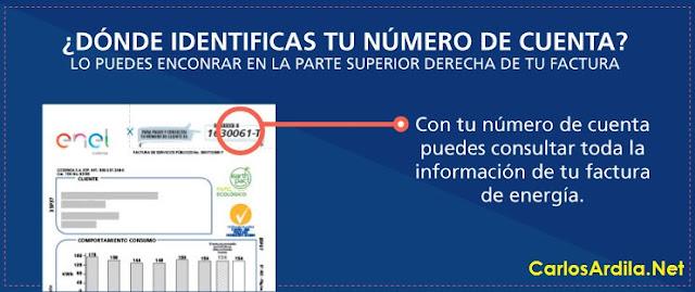 identificar número de cuenta codensa