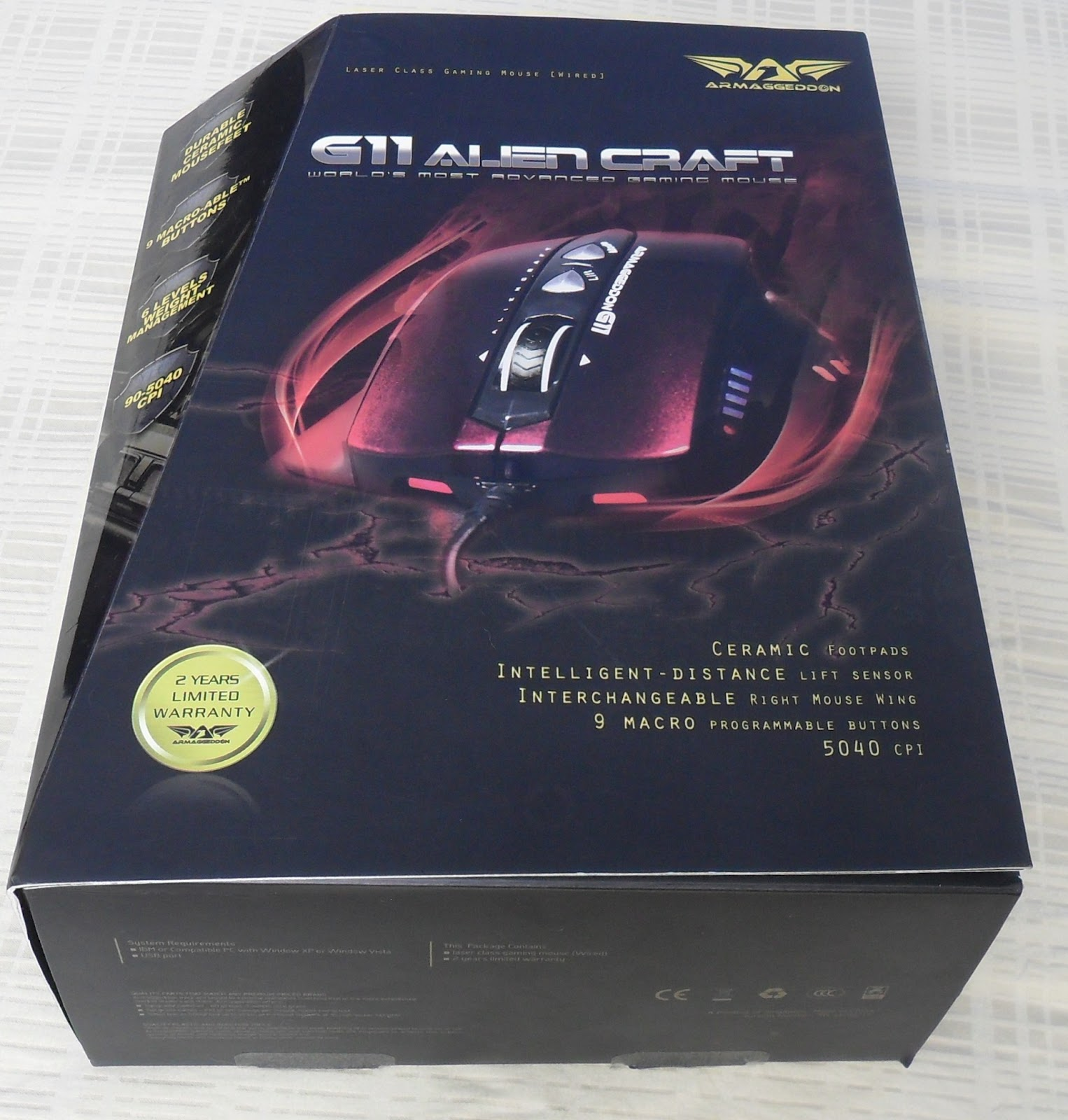 Unboxing & Review: Armaggeddon G11 Alien Craft Gaming Mouse 55