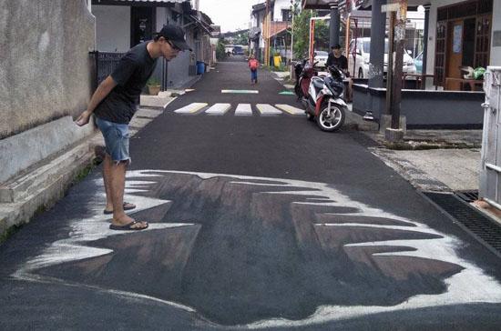 Lukisan 3D Karya Karang Taruna D. Tondano Depok Yang Keren