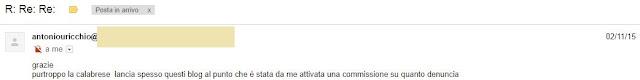 Antonio Felice Uricchio calunnia Silvana Calabrese