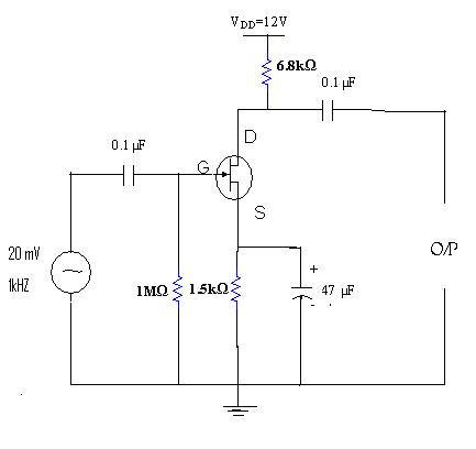 Common Source Fet Amplifier Electronic Devices And