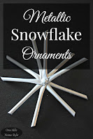 DIY Metallic Snowflake Christmas Ornaments - One Mile Home Style