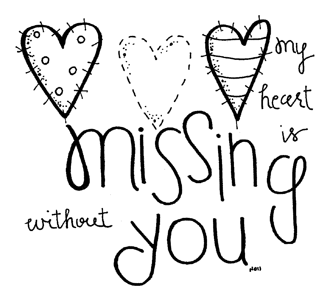 missing you coloring pages - photo#21