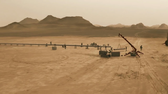 Constructing pipeline - image from Season 2 of NatGeo MARS TV series