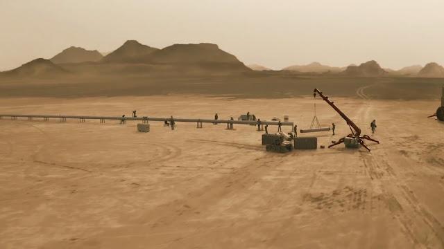 Constructing pipeline - image from Season 2 of NatGeo MARS TV series