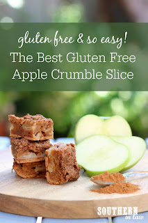 The Best Gluten Free Apple Crumble Slice