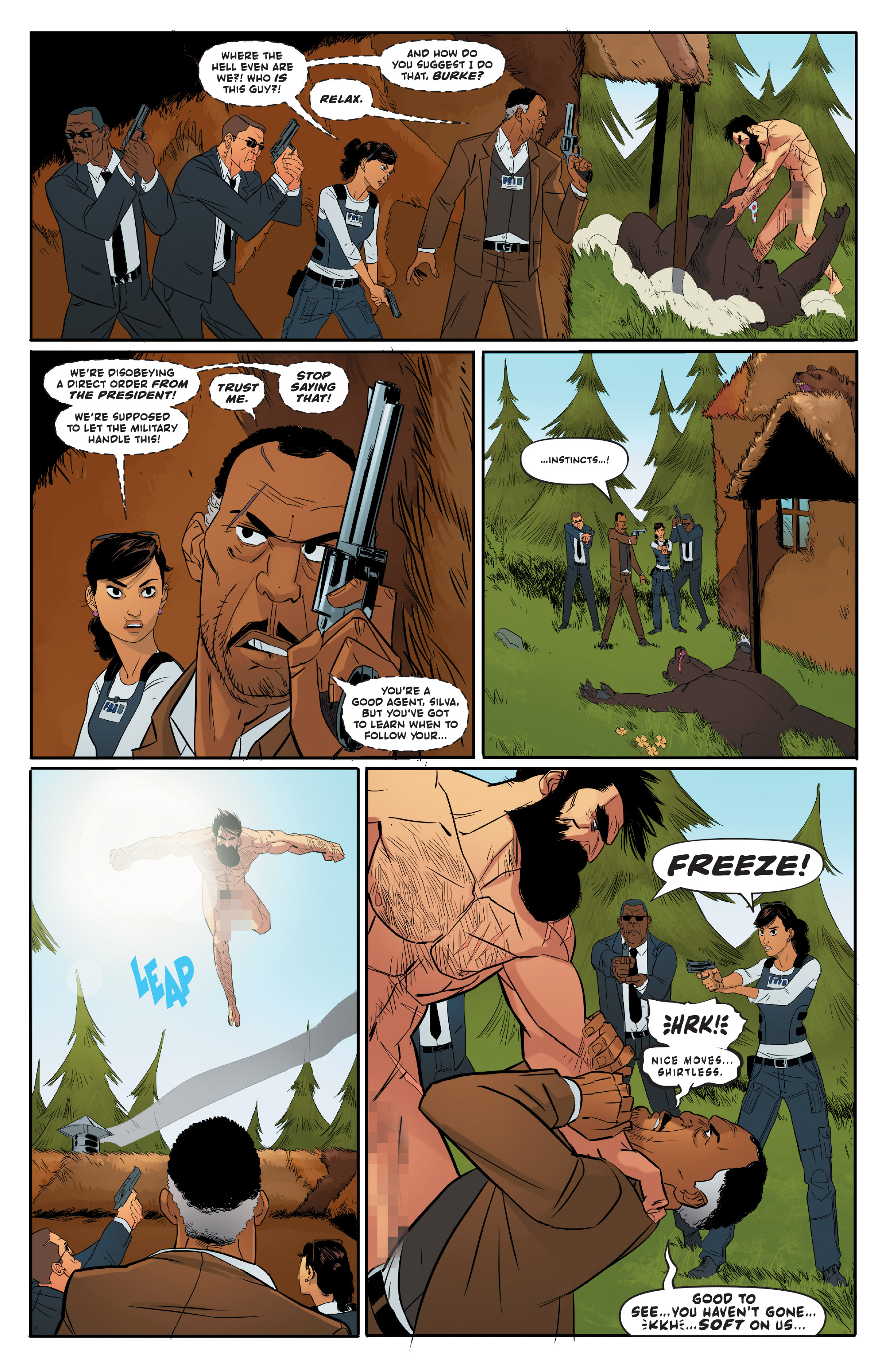 Read online Shirtless Bear-Fighter! comic -  Issue #1 - 11