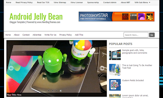 Android-Jelly-Bean-Blogger-Template