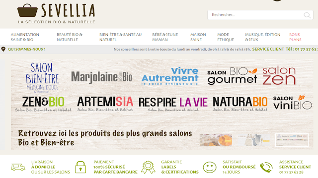 Test et avis du site Sevellia - La sélection Bio & Naturelle