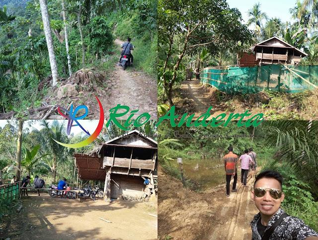 Jalan menuju 3 Wisata Alam Air terjun Desa Penembang
