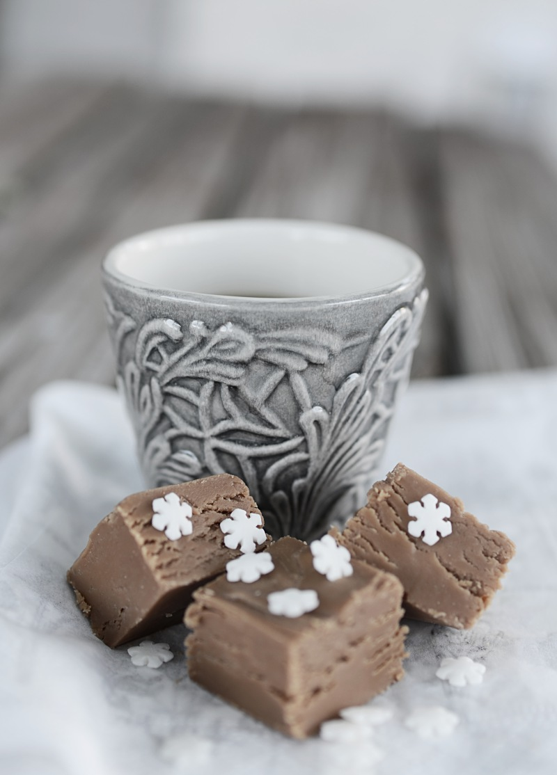 enkel fudge, snöflingor på bloggen
