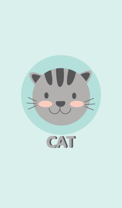 Cute Gray Cat theme