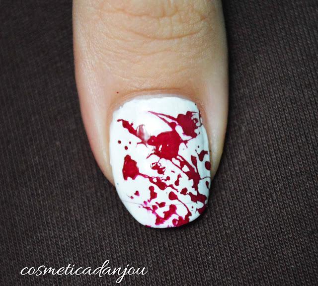 manicura sangre halloween