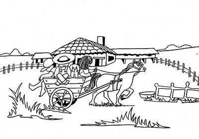 Dibujo De Vacaciones En La Granja Para Colorear 4 Dibujo