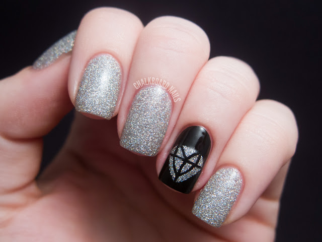 31dc2012 Day 22 Inspired By A Song Chalkboard Nails Nail Art Blog