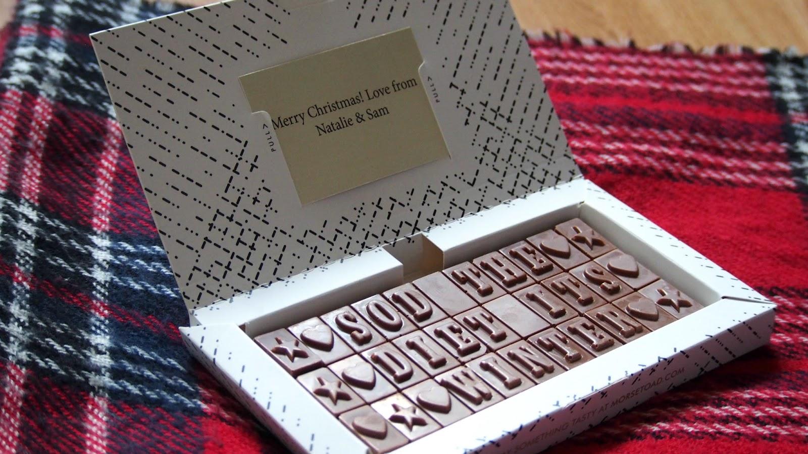Display of chocolate