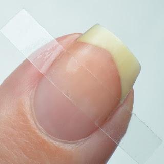 clear nail vinyl nail art