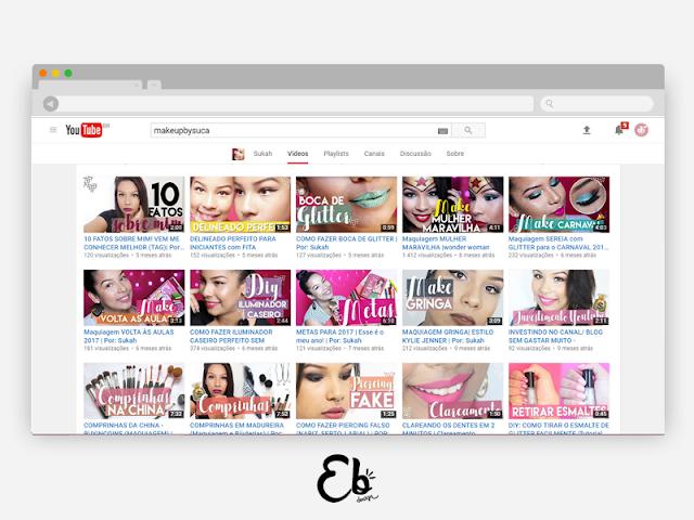 Personalização de Canal: MakeUp By Suca