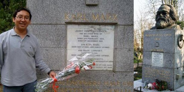 Fadli Zon Teriak Anti PKI, tapi Bawa Bunga ke Makam Mbah Komunis Karl Marx
