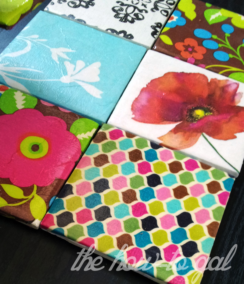 The How-To Gal: DIY Tile Coasters