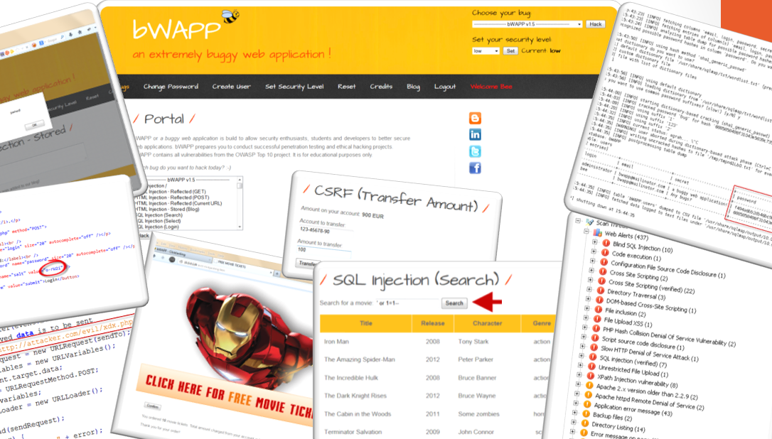 Web Application Penetration Testing with bWAPP - The World