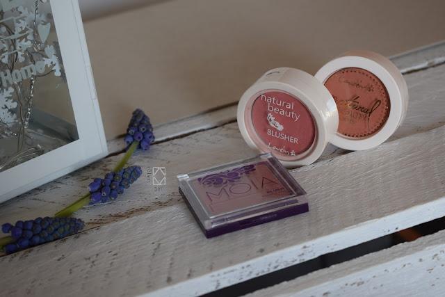 Przegląd kosmetyczki - róże