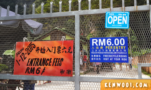ipoh qing xin ling entrance fee