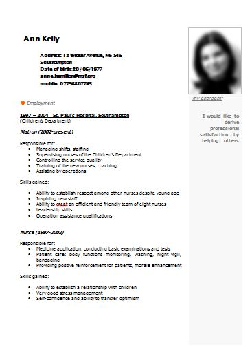 mail Notes: Free Resume Template Samples CV Example Templates ...
