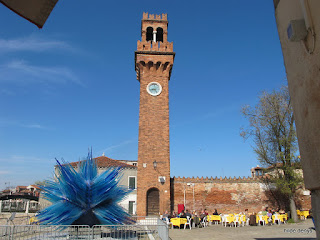 Open air glass sculpture, Murano