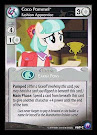 My Little Pony Coco Pommel, Fashion Apprentice Canterlot Nights CCG Card