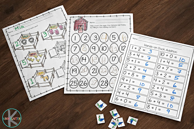 farm-math-worksheets-counting-addition-number-words