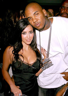 Rapper the gane and Kim Kardashian