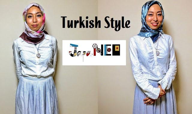 トルコ風ヒジャブの巻き方