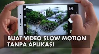 Cara Membuat Video Slow Motion Di HP Xiaomi Tanpa Aplikasi