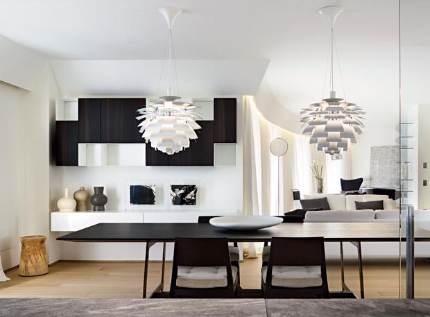 30 fotos de salas de jantar a preto e branco decora o e ideias - Fotos de comedores elegantes ...