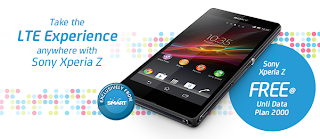Sony Xperia Z free at Unli Data Plan 2000