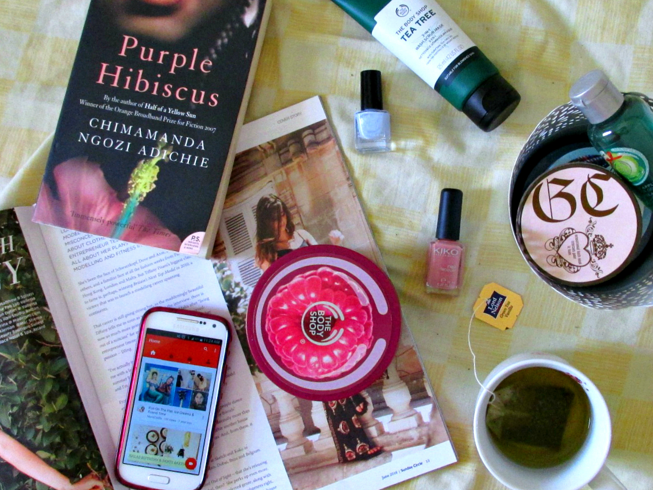 pamper routine 2016, The Body Shop body products, Grace Cole bath soak, Purple Hibiscus, Kiko nail polish, H&M nail polish