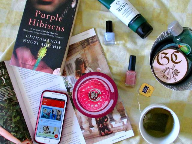 pamper routine 2016, The Body Shop body products, Grace Cole bath soak, Purple Hibiscus, Kiko nail polish, H&M nail polish