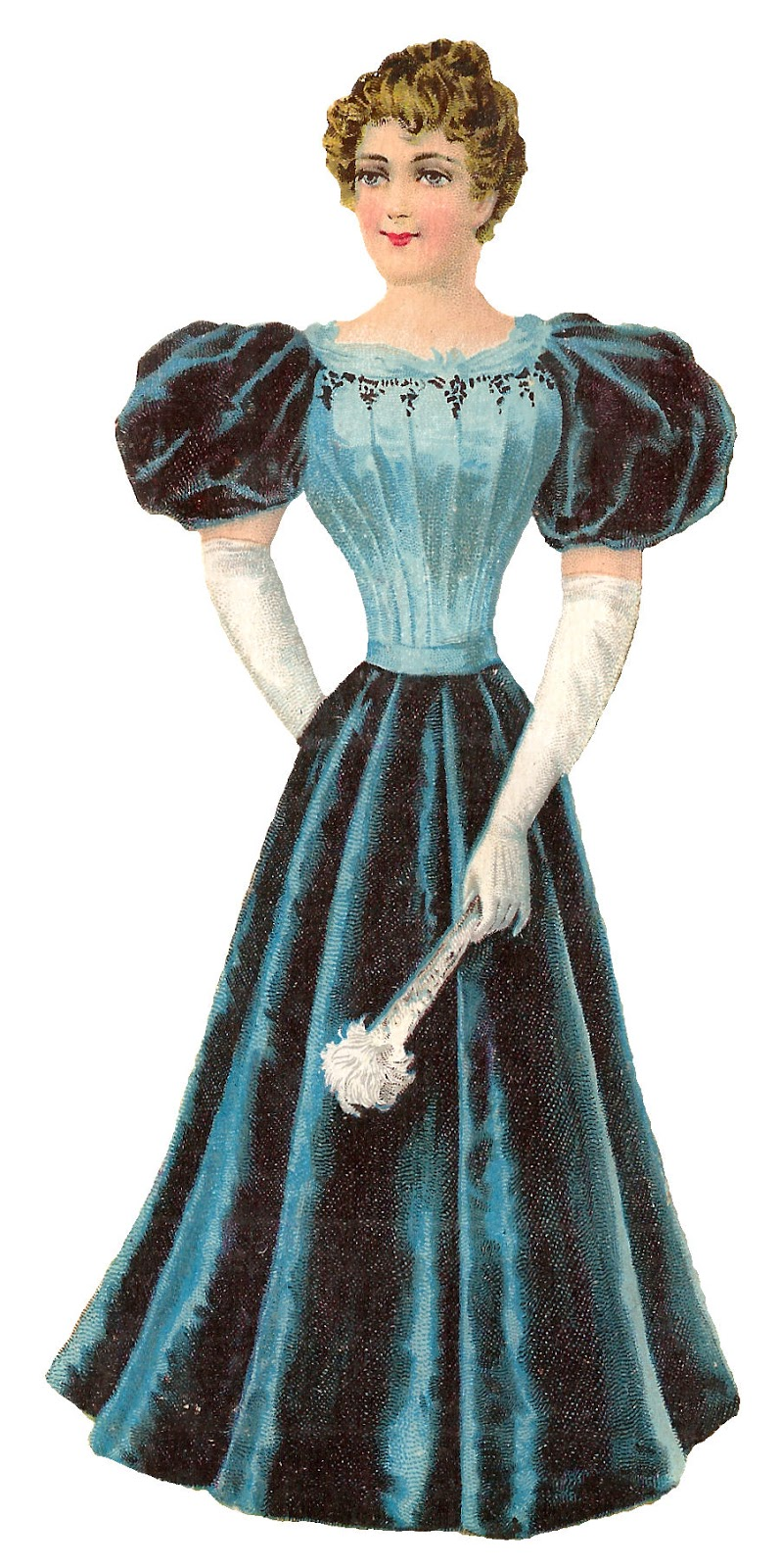 Fashion Dress Womens Ilration Clipart Digital Victorian