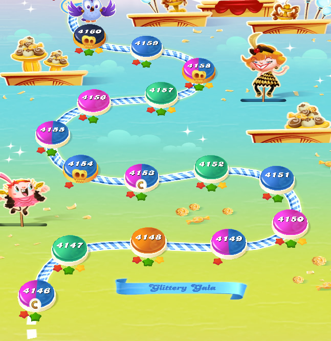 Candy Crush Saga level 4146-4160