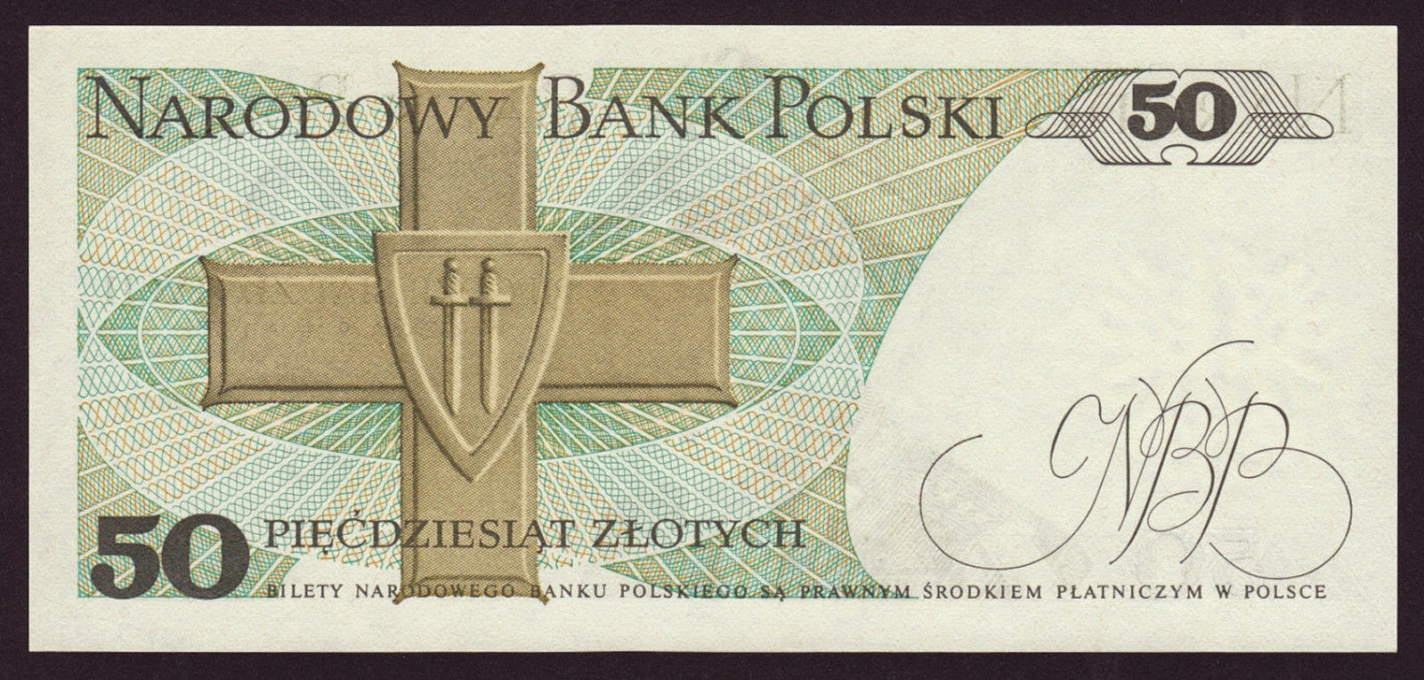 Poland Banknotes 50 Zloty banknote 1975 Order of the Cross of Grunwald