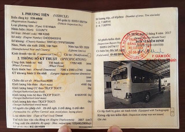 giấy tờ xe county hyundai 29 chỗ