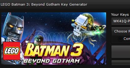 Cheats-NoSurveys: LEGO Batman 3: Beyond Gotham Key ...
