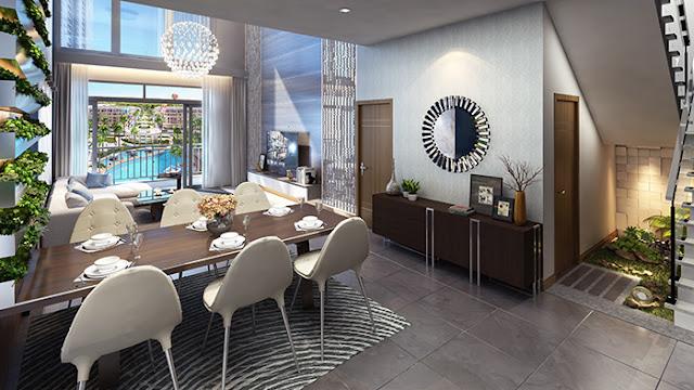 Phối cảnh 3D căn hộ Duplex siêu sang The Arcadia Vinhomes Gardenia