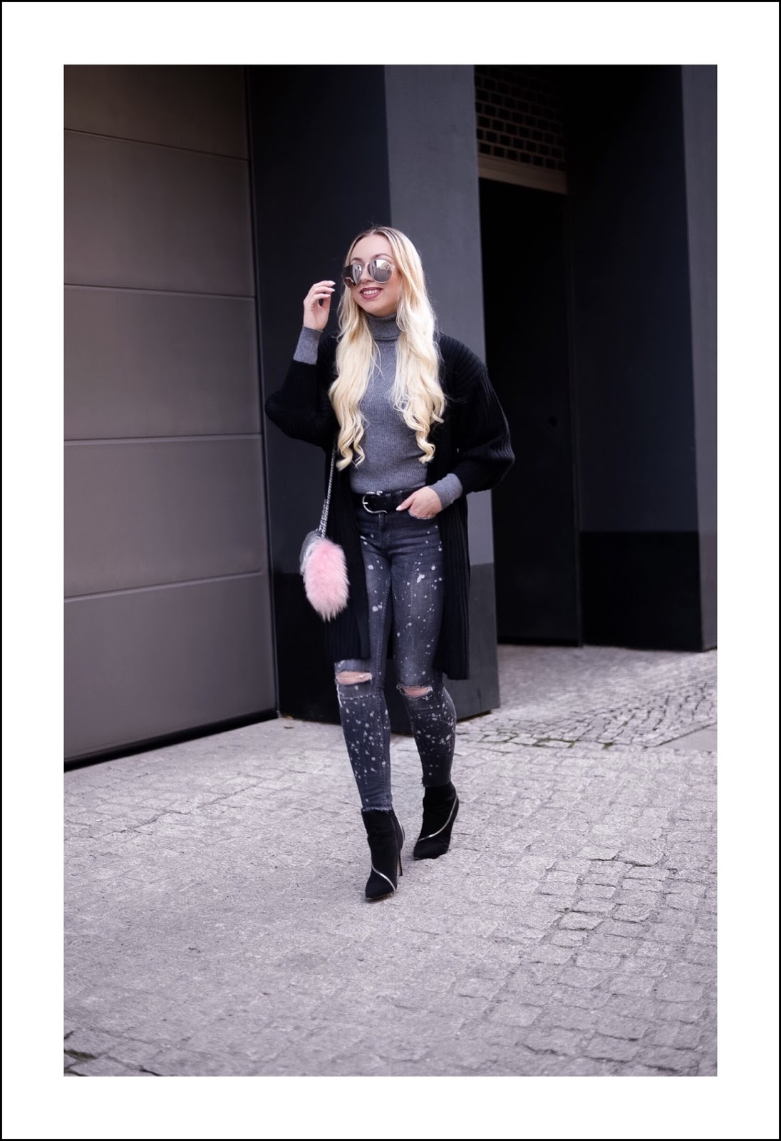 autumn 2016 streetstyle_grey ripped skinny jeans zara_new look shoes_zara bag