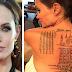 ماذا تعني هذه الوشوم الغريبة على ظهر أنجلينا جولي الكشف عنه لأول مرة وماذا يعني