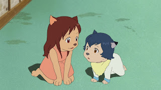 Image result for wolf children scene